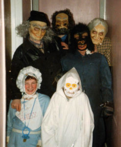 An old photograph of my family at Halloween