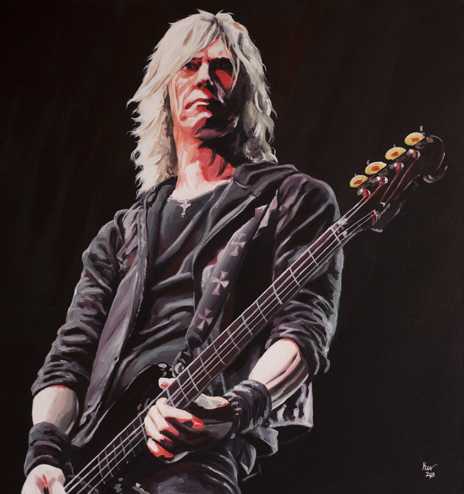 Duff McKagan from Guns N Roses by Kevin McHugh Art