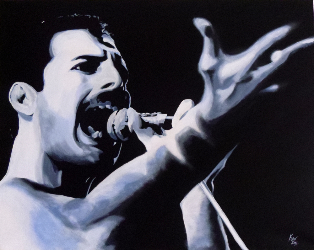 Freddie Mercury Portrait by Kevin McHugh Art
