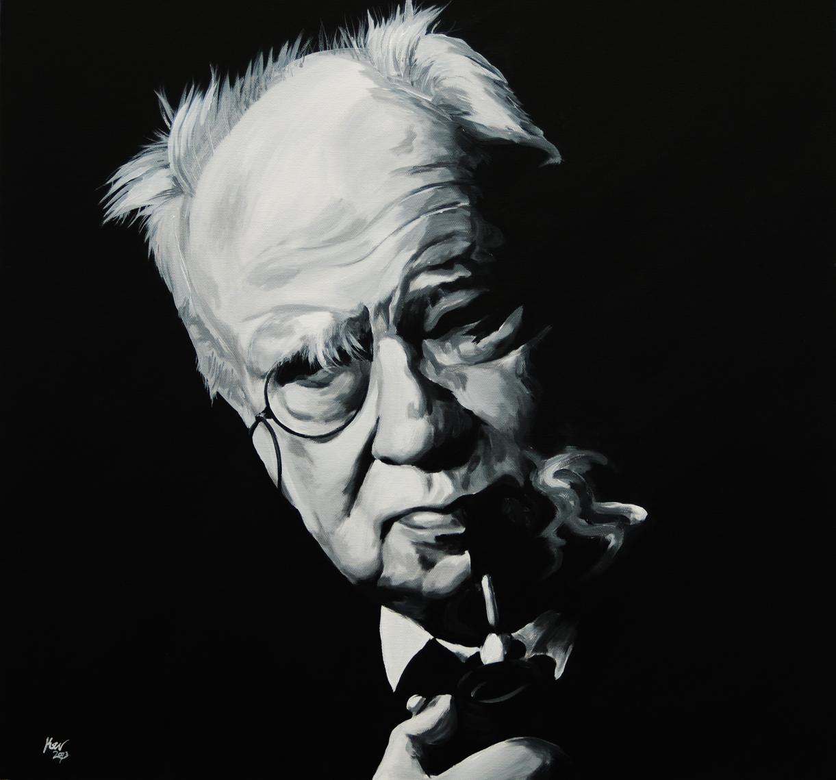 Patrick Moore Portrait by Kevin McHugh Art
