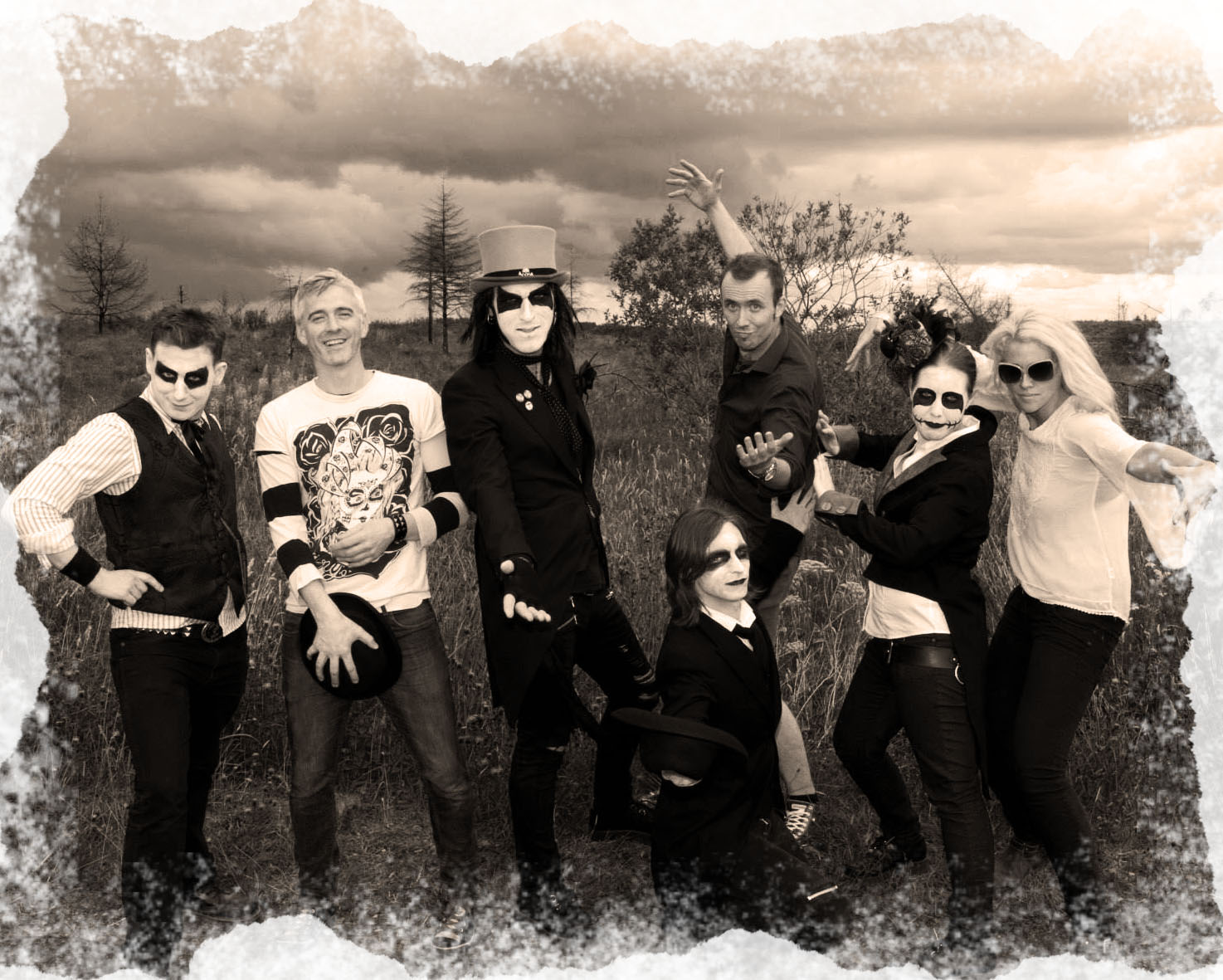 "The cast and crew of the ""Dead Air"" music video"