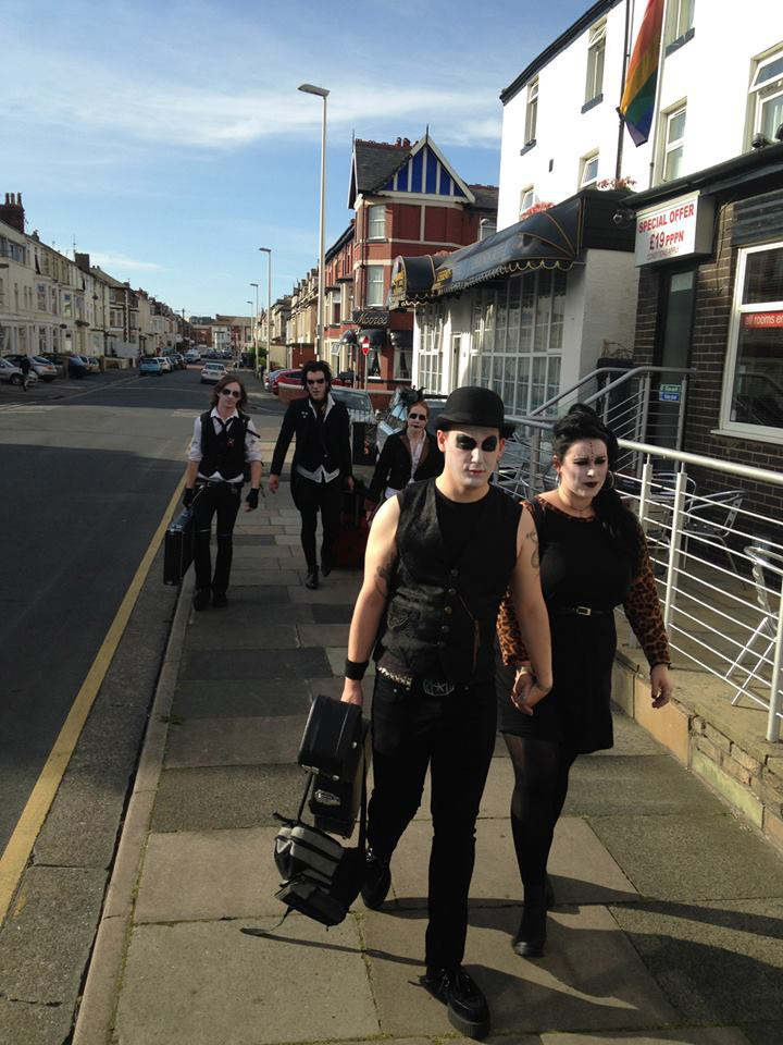 Cadaver Club making their way through Blackpool