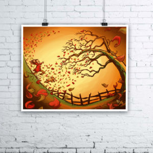 Autumn Has Arrived Giclée Print - Autumn Fall Art by Kevin McHugh