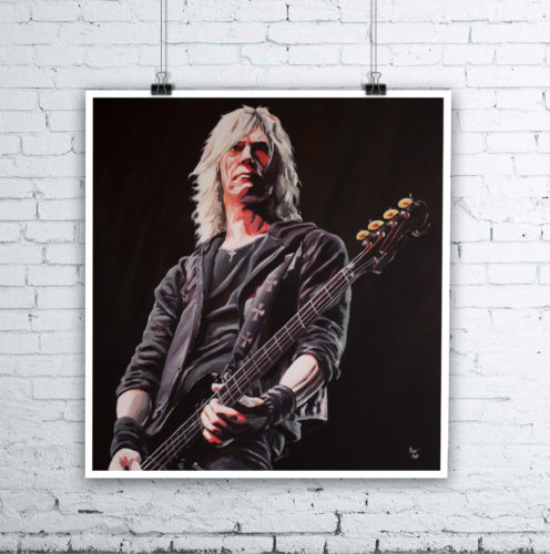 Duff McKagan Guns N Roses Painting by Kevin McHugh Art