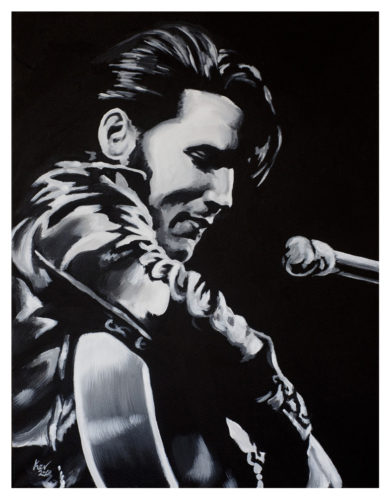 Elvis Presley Painting by Kevin McHugh Art