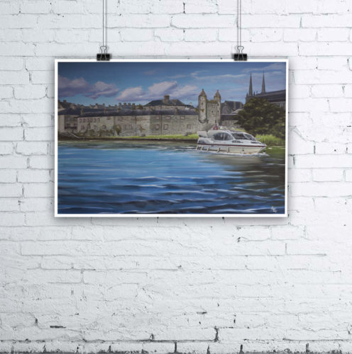 Enniskillen Painting by Irish Artist Kevin McHugh Art