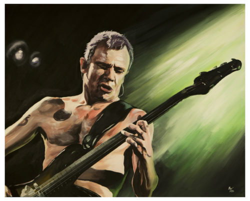 Flea Red Hot Chili Peppers Painting by Kevin McHugh Art