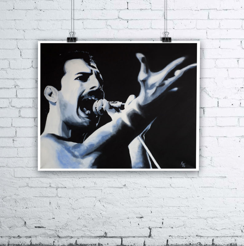 Freddie Mercury Queen Painting by Kevin McHugh Art