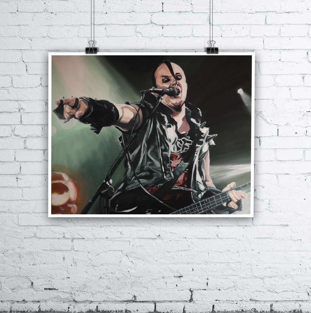 Jerry Only Misfits Painting by Kevin McHugh Art