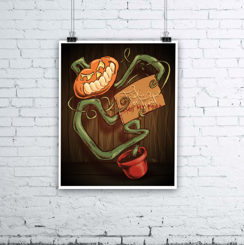 Pumpkin Pot Halloween Pumpkin Art by Kevin McHugh Art
