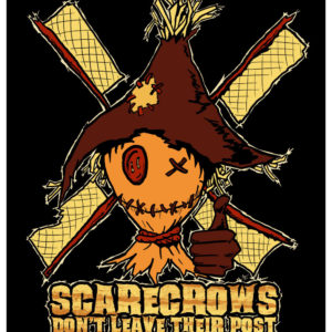 Scarecrows Don't Leave Their Post - Halloween Scarecrow Giclée Print by Kevin McHugh Art