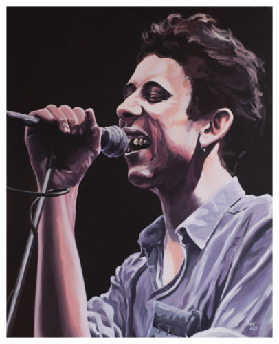 Shane MacGowen The Pogues Painting by Kevin McHugh Art