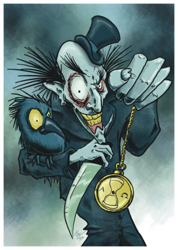 Time's Up - Halloween Illustration by Kevin McHugh Art