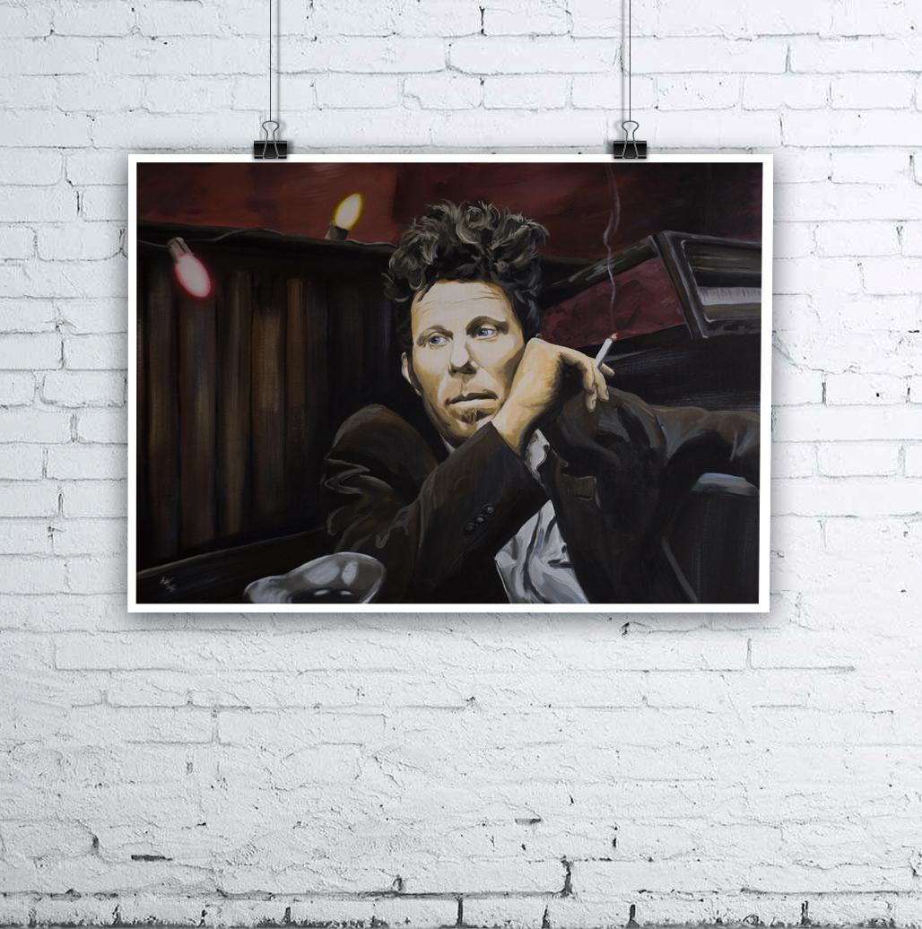 Tom Waits Painting by Kevin McHugh Art