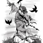 Where Dreams Go To Die - Halloween Scarecrow Giclée Print by Kevin McHugh Art