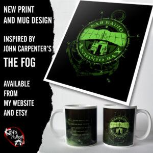 The Fog horror movie merchandise by Kevin McHugh Art