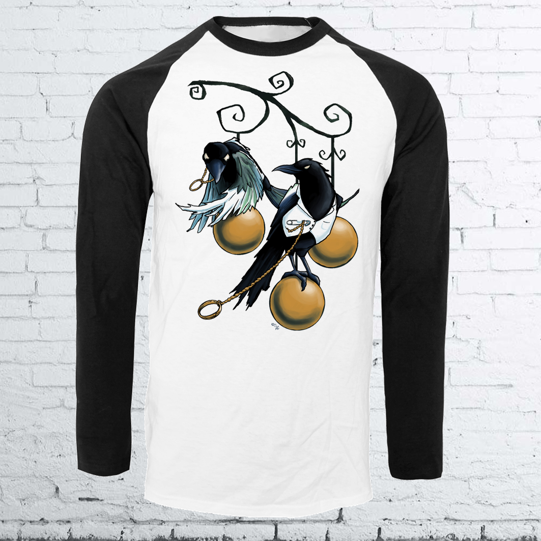 Lovebirds Halloween Crow Baseball Shirt
