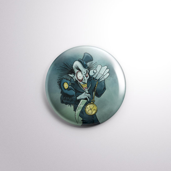 Times Up - Halloween Horror Badge