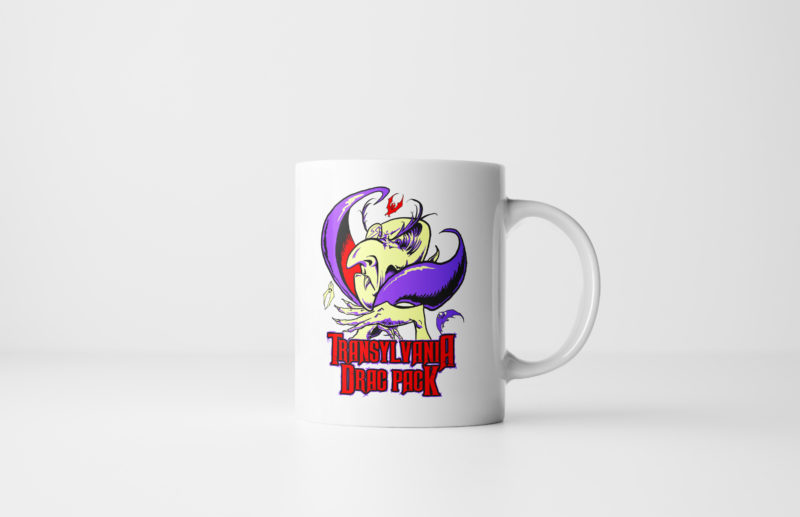 The Transylvania Drac Pack Vampire Halloween Mug White by Kevin McHugh Art