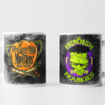 Left and Right Images of Fiendish Frankies Mug - Black