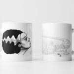 Left & Right View of The Bride of Frankenstein Mug