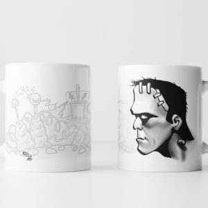 Left & Right View of Frankenstein Mug