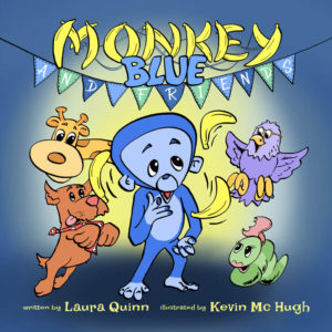 Front Cover of Monkey Blue - Illustrated by Kevin McHugh