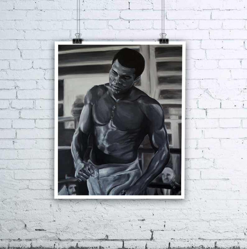 Muhammad Ali Painting by Kevin McHugh Art