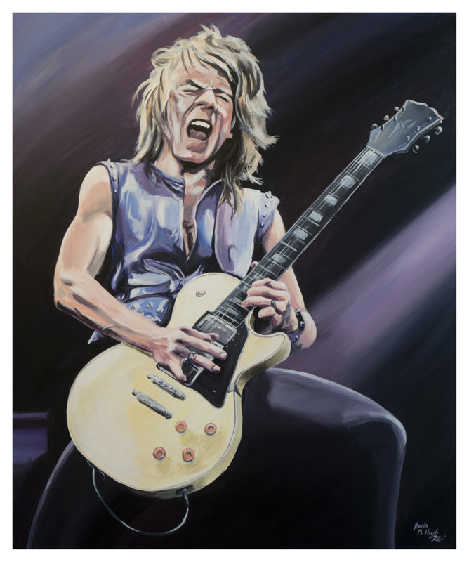 Randy Rhoads Painting by Kevin McHugh Art