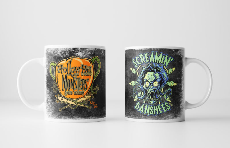 Left and Right Images of Screamin' Banshees Mug - Black