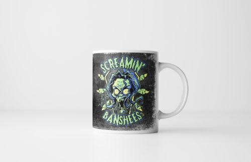 The Screamin' Banshees - Halloween Monster Mug by Kevin McHugh Art
