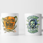 Left and Right Images of Screamin' Banshees Mug - White
