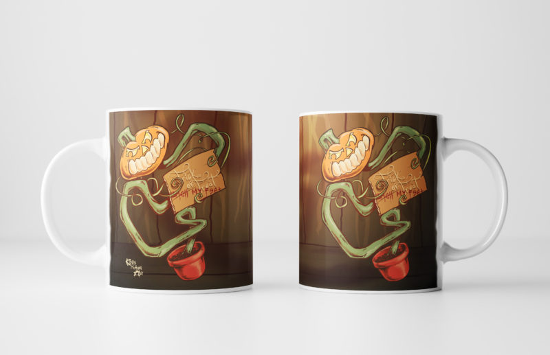 Left and Right Images of The Pumpkin Pot Mug