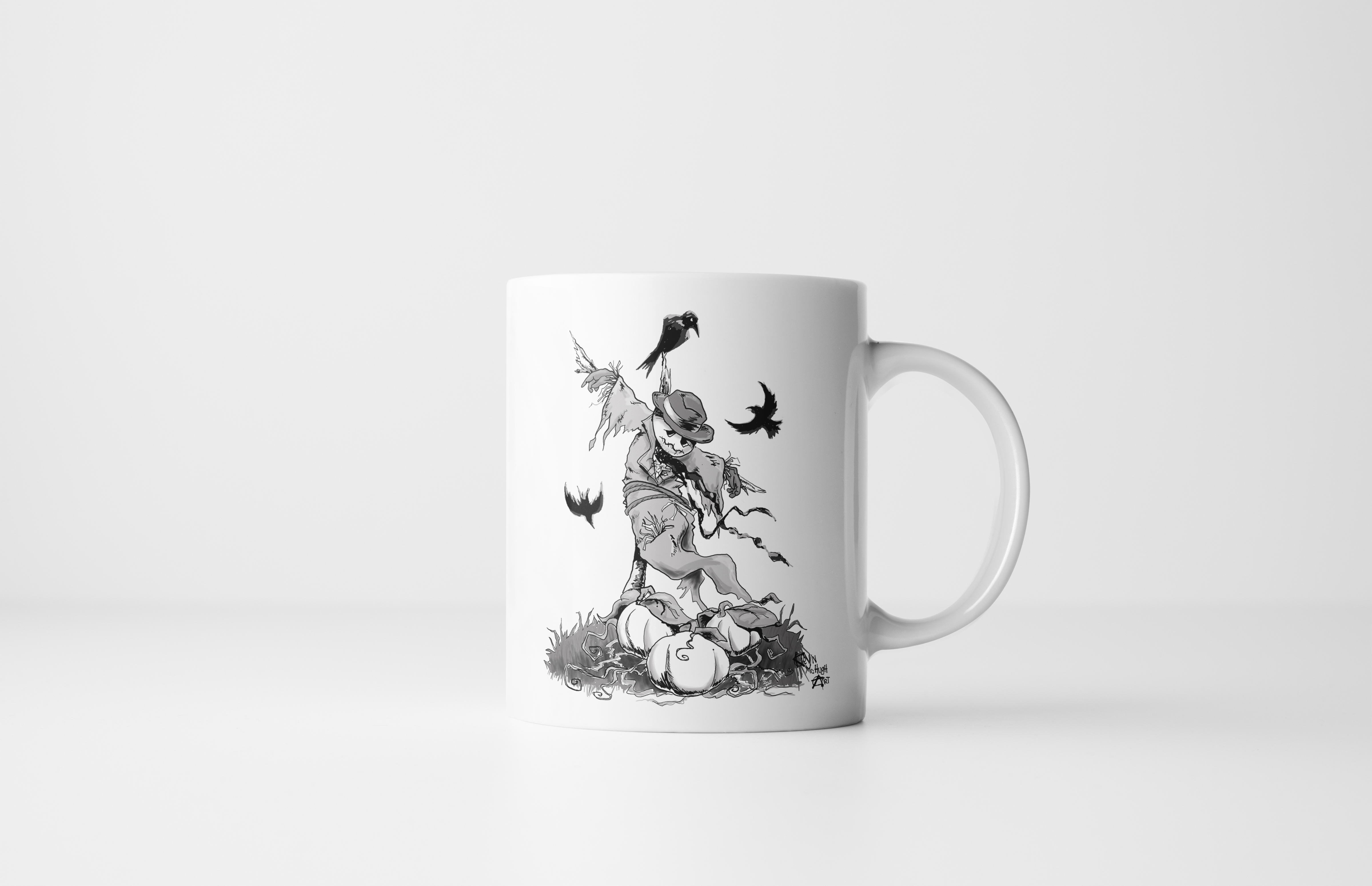 Where Dreams Go To Die | Scarecrow Mug by Kevin McHugh Art