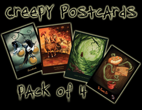 Halloween Postcard Pack from Kevin McHugh Art