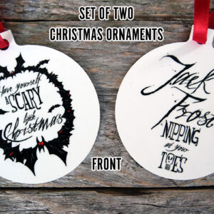 Horror Christmas Ornaments from Kevin McHugh Art