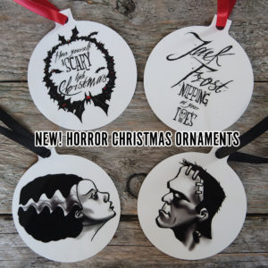 Horror Christmas Ornaments by Kevin McHugh Art
