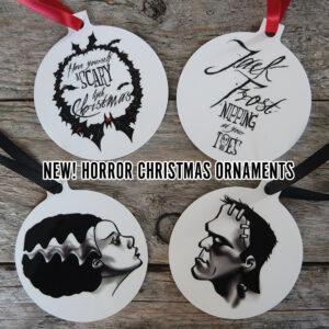 Horror Christmas Ornaments by Kevin McHugh Art