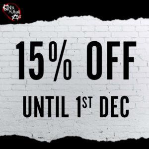 15% OFF SALE