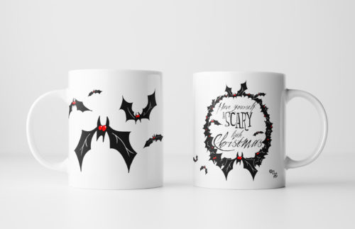 Horror Christmas Mug by Kevin McHugh Art