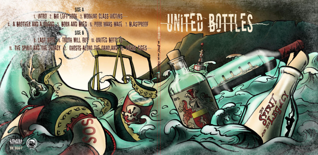 United Bottles album cover by Kevin McHugh Art