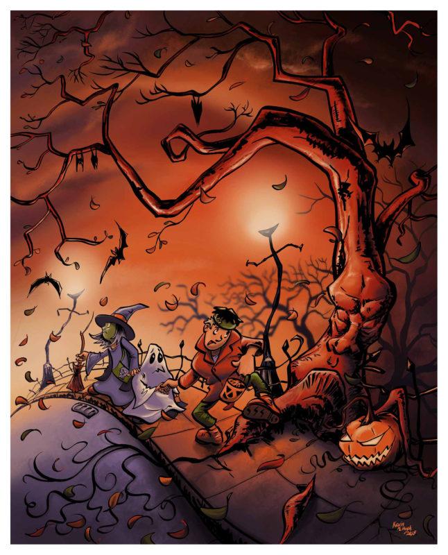 Halloween Kids - Long Way Home | Halloween Art by Kevin McHugh Art
