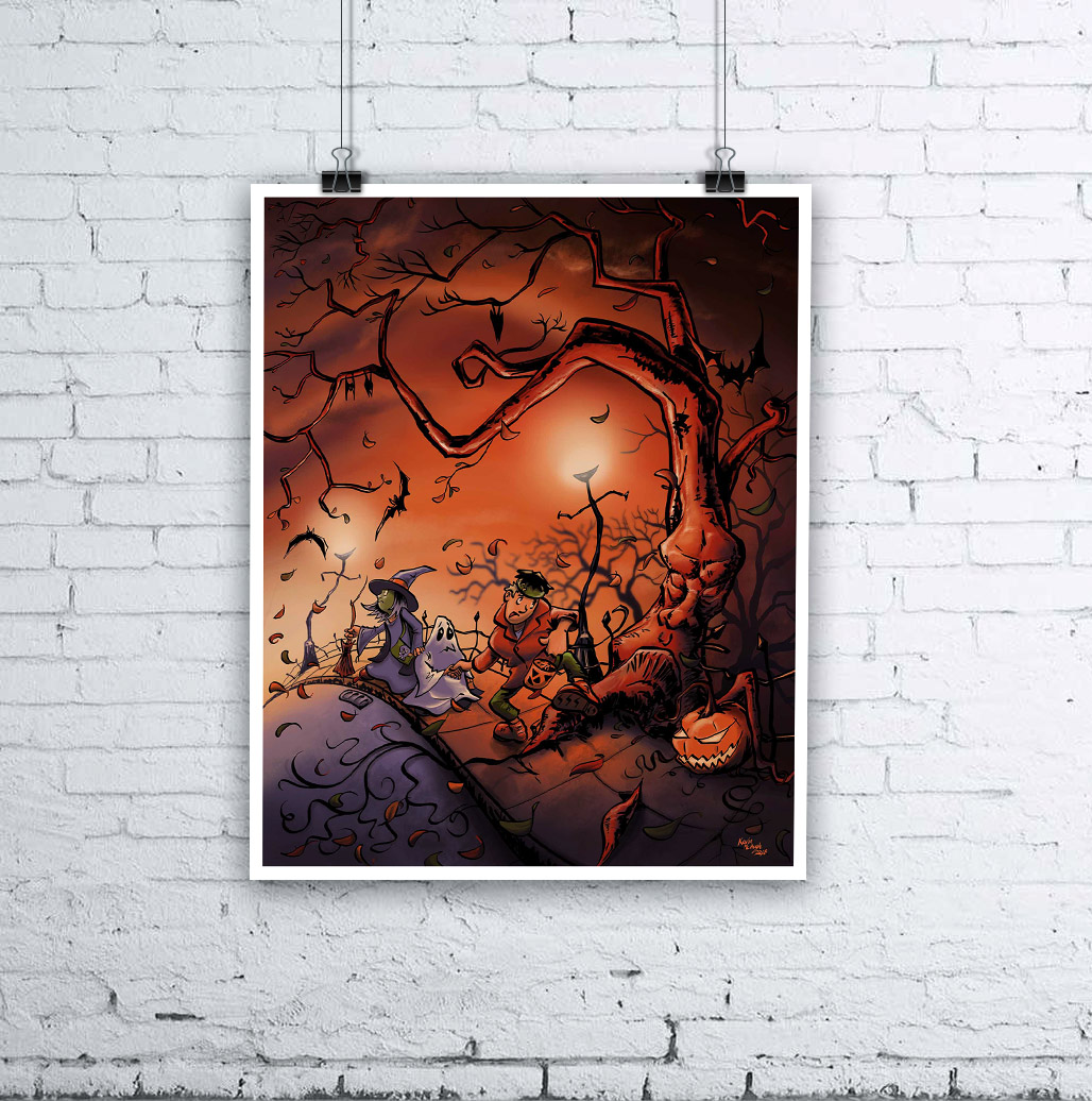 Halloween Kids - Long Way Home | Halloween Art by Kevin McHugh Art
