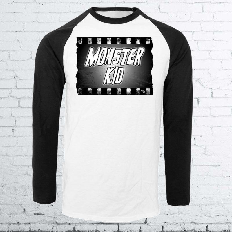 Monster Kid Baseball Shirt by Kevin McHugh Art