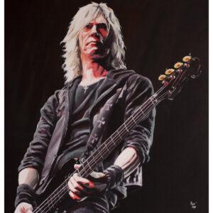 Duff McKagan Guns N Roses Painting by Kevin McHugh Art