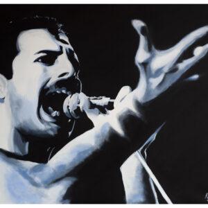 Freddie Mercury Queen Painting by Kevin McHugh Art
