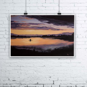 Lough Erne Painting by Irish Artist Kevin McHugh Art