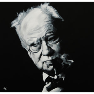 Patrick Moore Painting by Kevin McHugh Art