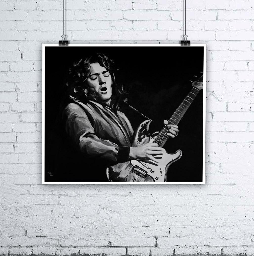 Rory Gallagher Painting by Kevin McHugh Art