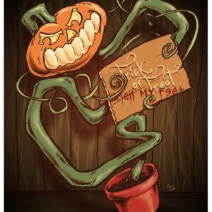 Pumpkin Pot Halloween Pumpkin Art by Kevin McHugh Art